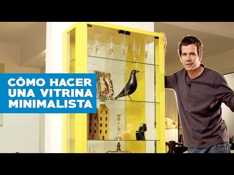 ¿Cómo hacer una vitrina minimalista?