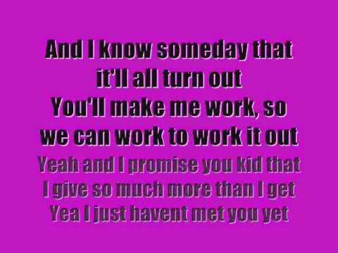 Cameron Mitchell & Damian McGinty- Havent Met You Yet (Lyrics...