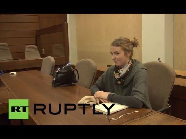 Germany: Watch FEMEN activist Josephine Witt arrive for trial