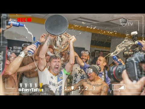 RAFA CAM: Inside the LA Galaxy's raucous locker room celebration | #FirstToFive