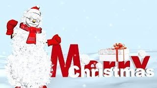 Funny Merry Christmas greetings. Animation Christmas song