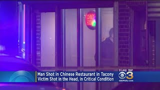 Police: Man Shot Once In Head Inside Chinese Restaurant In Tacony