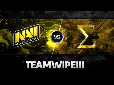 Teamwipe by Na`Vi vs Sigma @ XMG Captains Draft Invitational