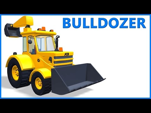 JCB Bulldozer | Cartoon Toy Truck | Educational Videos | Poems For Kids