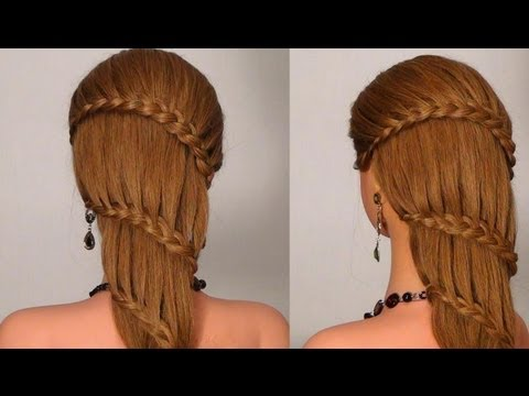 Французский водопад waterfall twist hairstyle