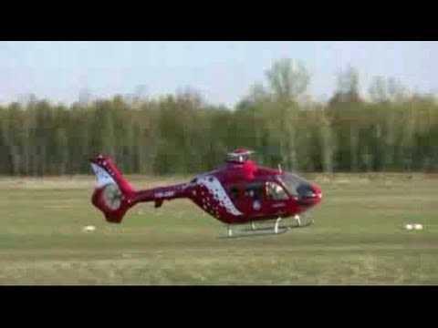 1:5 Scale EC135 Air Zermatt - RC Helicopter Turbine Power