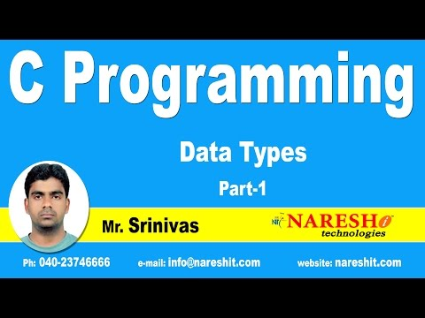 Data Types - Part 1 | C Language Tutorial