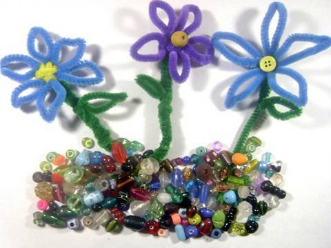 Manualidades de chenilla: Como hacer flores de limpia pipas
