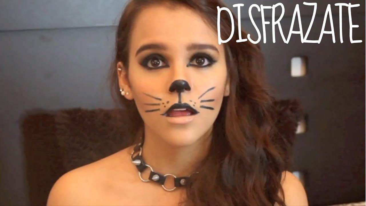 Maquillaje para halloween gato youtube - Pintura cara halloween ...