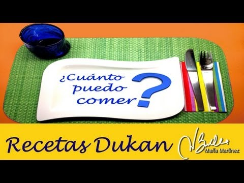 Adelgazar: ¿Cuanto puedo comer? (Dieta Dukan) / Diet FAQ: How much can I ate of this?