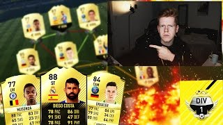 JANUARY TRANSFER HYBRID SQUAD BUILDER!! (DIVISION 1 TEST) - FIFA 17 ULTIMATE TEAM