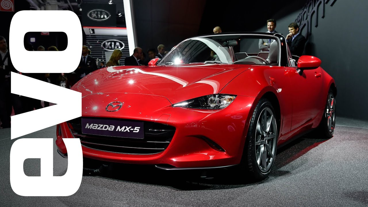 Mazda MX-5 at Paris 2014 | evo MOTOR SHOW - YouTube
