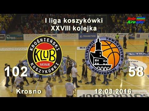 Koszykówka: Miasto Szkła Krosno - GTK Gliwice (cały Mecz)