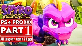 SPYRO REIGNITED TRILOGY Gameplay Walkthrough Part 1 (Spyro The Dragon 120% Completion) No Commentary