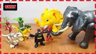 2 Anh em siêu nhân tí hon đi bắt con voi khổng lồ power rangers toy for kids đồ chơi trẻ em