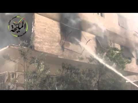 Syria: Government fighter jet appears to drop bomb