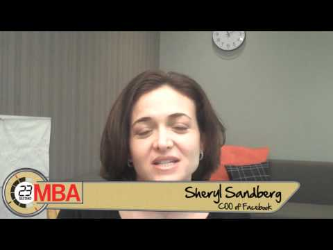 30 Second MBA -Sheryl Sandberg, COO of Facebook