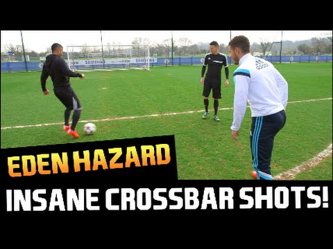Eden Hazard Spectacular Crossbar Shot! PFA Player of the Year 2015!