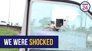 WATCH: Eyewitness describes explosion and chaos during cash-in-transit heist