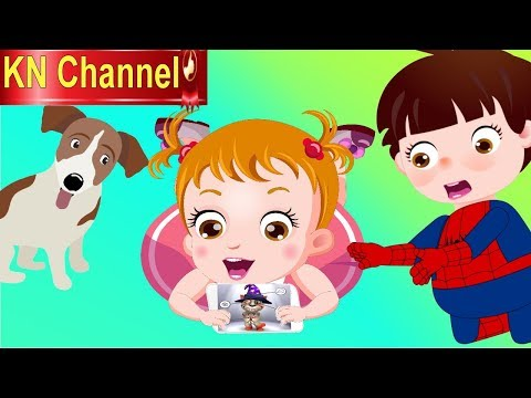 BÉ NA MÊ CHƠI GAME CON MÈO | KN Channel  Hoạt hình Việt Nam |