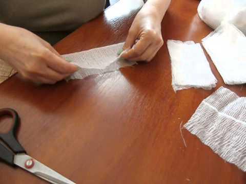 Как сделать тампон для гинекологии из бинта