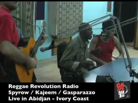 Gasparazzo - Live in Abidjan - Ivory Coast - Reggae Revolution Radio with Spyrow - Kajeem -