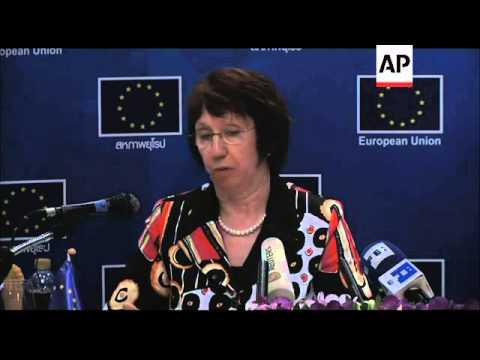 EU''''s Ashton visits to Thai prime minister Yingluck Shinawatra