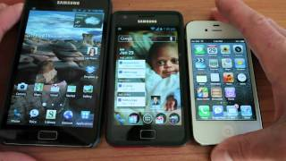 Samsung Galaxy Note vs iPhone 4s vs Galaxy S II