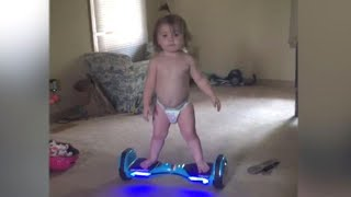 Baby is a Pro on a Hoverboard