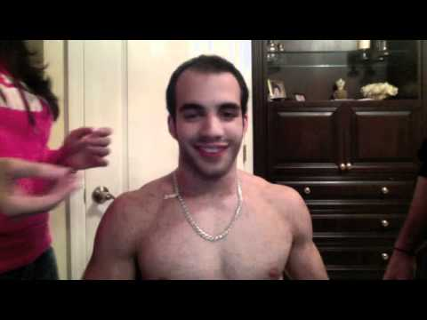 American Cup Champion Danell Leyva shaves his head in support of cancer patients