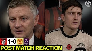 Post-Match Reaction | Solskjaer & Maguire | A.F.C. Bournemouth 1-0 Manchester United