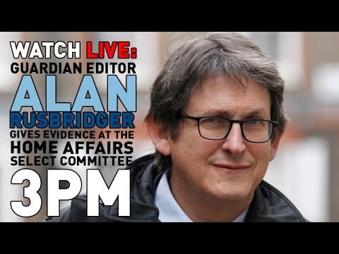 Edward Snowden, NSA and GCHQ - Guardian editor Alan Rusbridger questioned - Truthloader