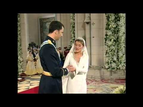 Royal Wedding, Madrid 2004. Prince Felipe and Princess Letizia of Spain. May 22, La Almudena.