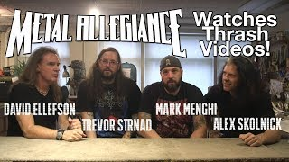 METAL ALLEGIANCE Watches Thrash Videos! | MetalSucks