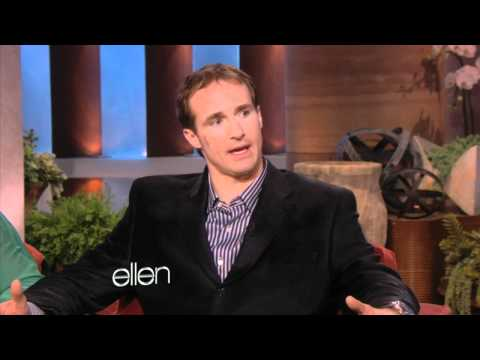 Drew Brees Surprises Ellen!