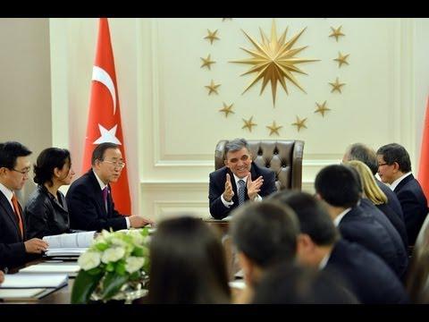 Cumhurbaşkanı Gül, BM Genel Sekreteri Ban Ki-moon'u Kabul Etti-07.12.2012