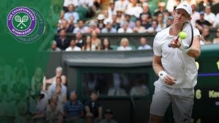 Kevin Anderson turns left-handed in astonishing point | Wimbledon 2018