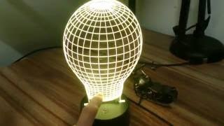 7 Colors LED Lamp Base with 10 LEDs for 3D Illusion Acrylic Light Panel AA Battery or DC 5V