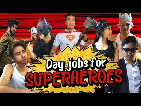 Day jobs for Superheroes | marvel