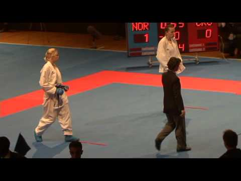 2009 WKF Jr Worlds -21 Women -60 Kg Aka Croatia vs Ao Norway