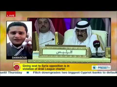 Press TV's Correspondent Mohamed Ali on Arab League's Bias Against the Syrian Government