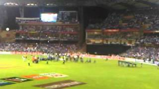 Dhoni world cup 2011 Winning shot from the Stadium