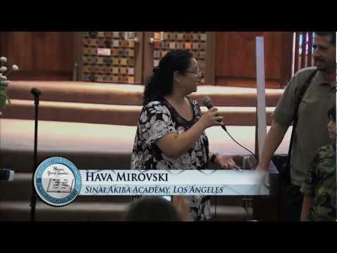 2011 Jewish Educator Awards: Hava Mirovski, Sinai Akiba Academy