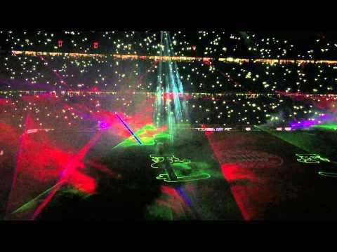Lasershow in der Allianz Arena 2014