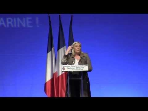 Discours de Marine Le-Pen pour les départementales 2015 Partie 1/2