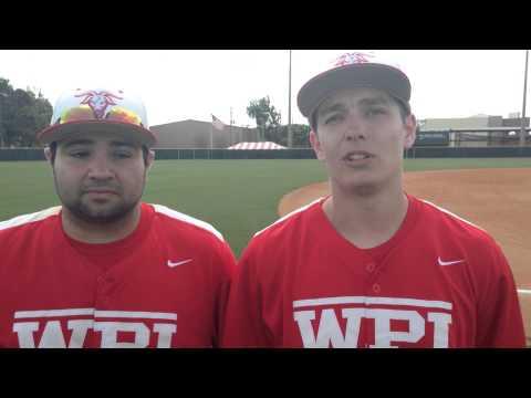 WPI Baseball Post-Game Interview - John Mulready and Taylor Landry
