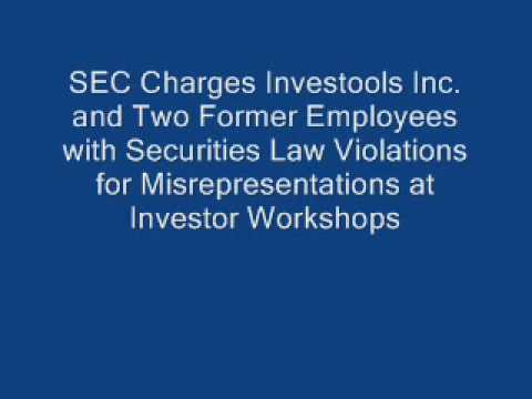 SEC charged Investools for fraud Video
