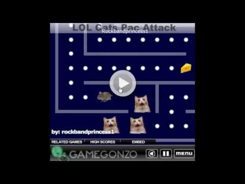 LOL Cats Game - Cat Pac Attack!! Free Online Games