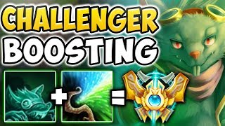 THIS NEW CHALLENGER BOOSTING STRATEGY IS SO OP!! INSANE SNOWBALL TWITCH GAMEPLAY - League of Legends