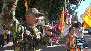 Dân Việt ở Mỹ biểu tình phản đối Chủ tịch TQ Tập Cận Bình thăm Mỹ